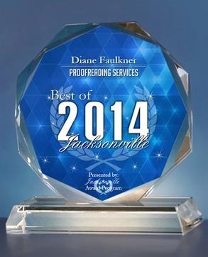 Proofreading Award 2014