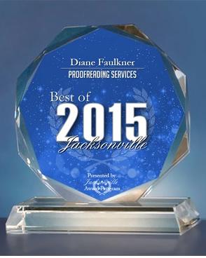 Proofreading Award 2015